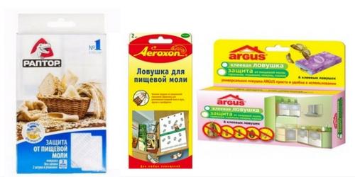 Специальные средства от пищевой моли: ловушки.